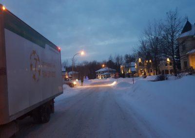 Camion de déménagement  hiver